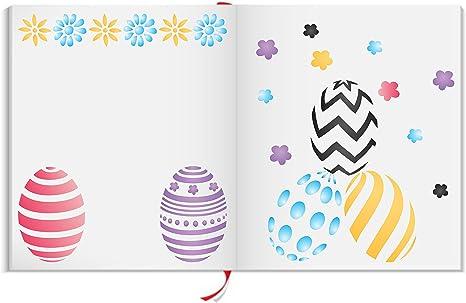 Easter Decorations Stencils Crafts Reusable Decorative Easter Motifs Stencil