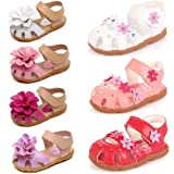 Amazon Price History for:DADAWEN Girls' Closed-Toe Summer Solid Flower Outdoor Sport Casual Sandals(Toddler/Little Kid)