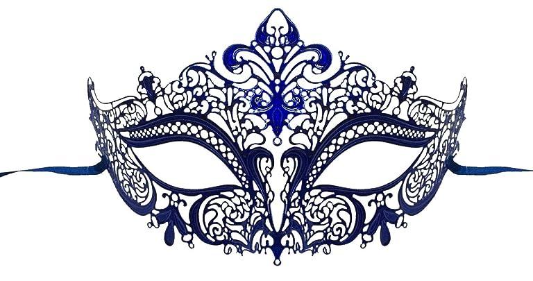 Masquerade Ball Clothing: Masks, Gowns, Tuxedos Luxury Mask Womens Laser Cut Metal Venetian Masquerade Crown Mask $24.99 AT vintagedancer.com