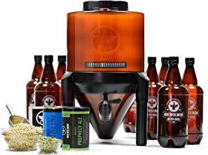 BrewDemon Craft Beer Brewing Kit with Bottles - Conical Fermenter Eliminates Sediment and Makes Great Tasting Home Made Beer