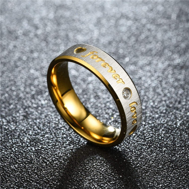 grabado láser-la36d Señora anillo de pareja de acero inoxidable circonita incl