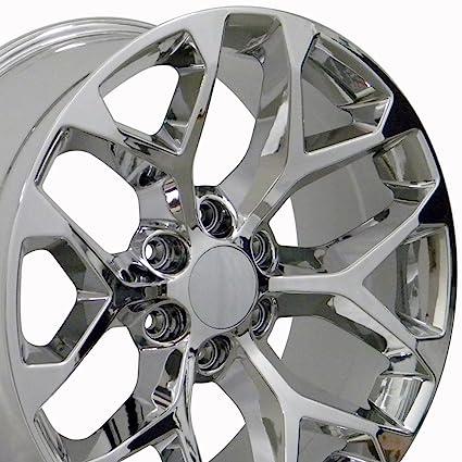 Amazon Com Oe Wheels 22 Inch Fit Chevy Silverado Tahoe Gmc Sierra
