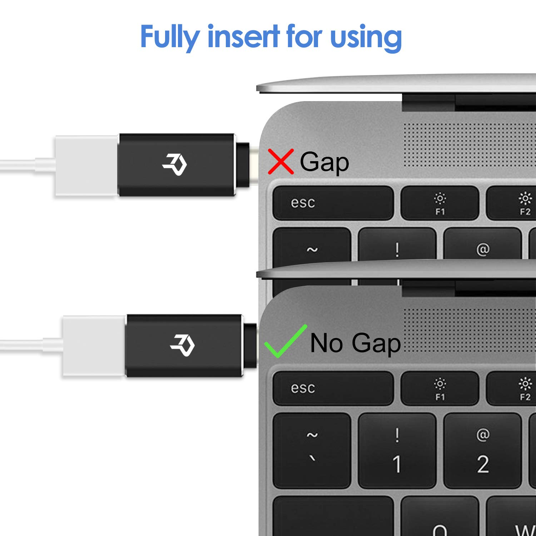 Rankie 2-Pack USB C Adapter Hi-speed USB Type C to USB-A 3.0, Black