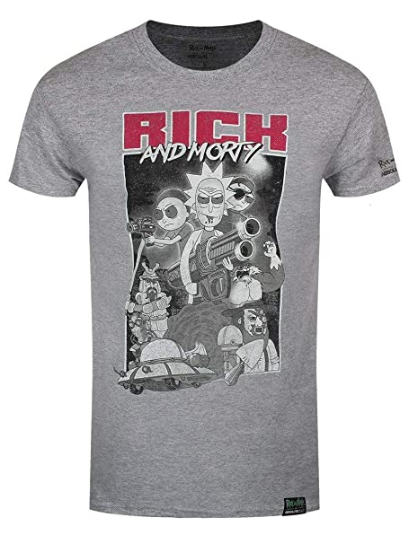 Plastic Head Rick and Morty X Absolute Cult Guns (HEA, Camiseta para Hombre: Amazon.es: Ropa y accesorios