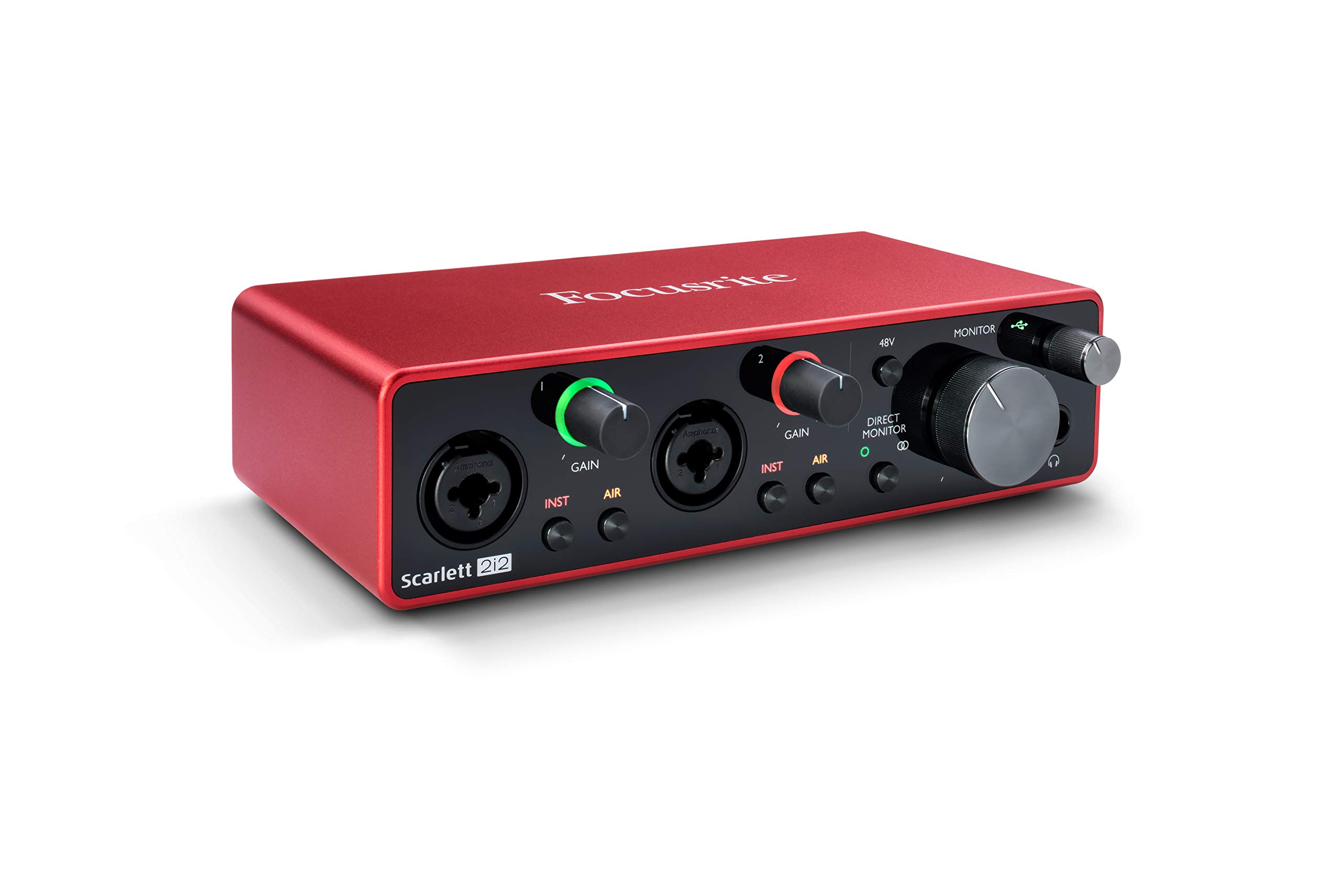 Focusrite 2i2 (3rd Gen) - Interfaz de audio USB con Pro T...