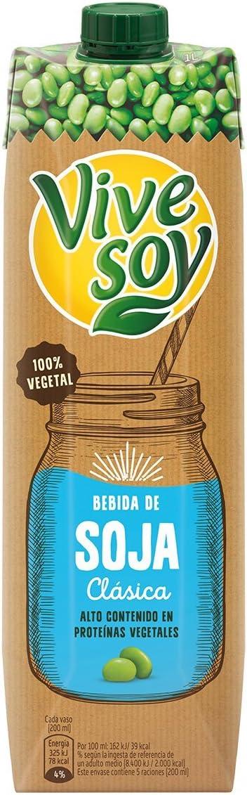Vivesoy - Bebida de Soja Natural - 1 L: Amazon.es ...