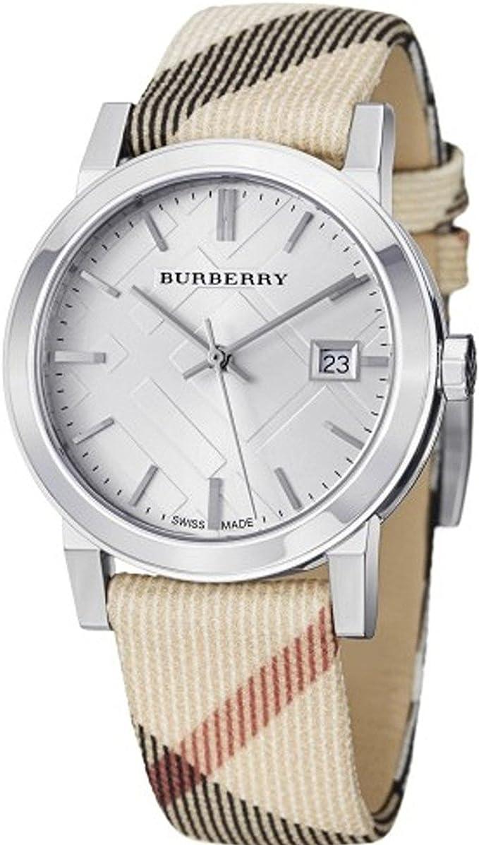 Burberry heritage orologio donna analogico al quarzo con cinturino in nylon bu9022 BU9022