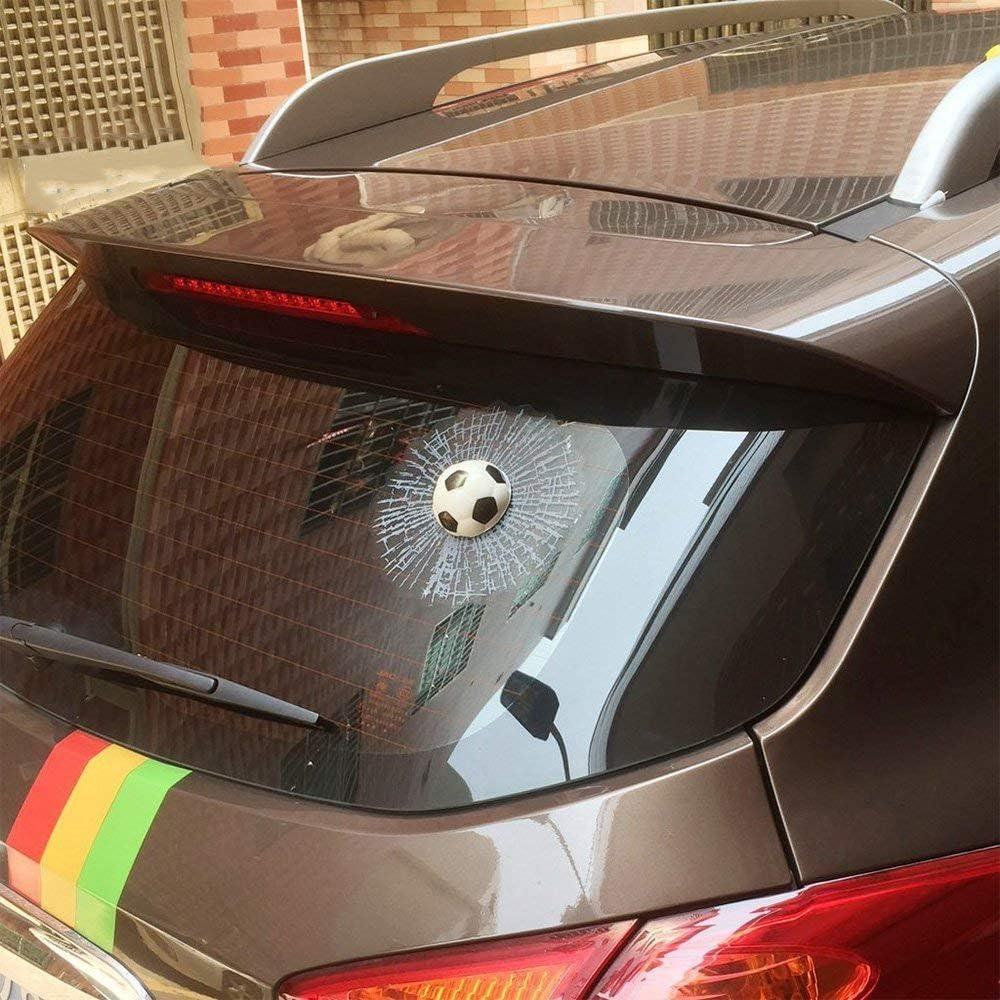 Folconroad 3d Kugel Autoaufkleber Kreativer Hit Auto Aufkleber Weiß Fußball Auto