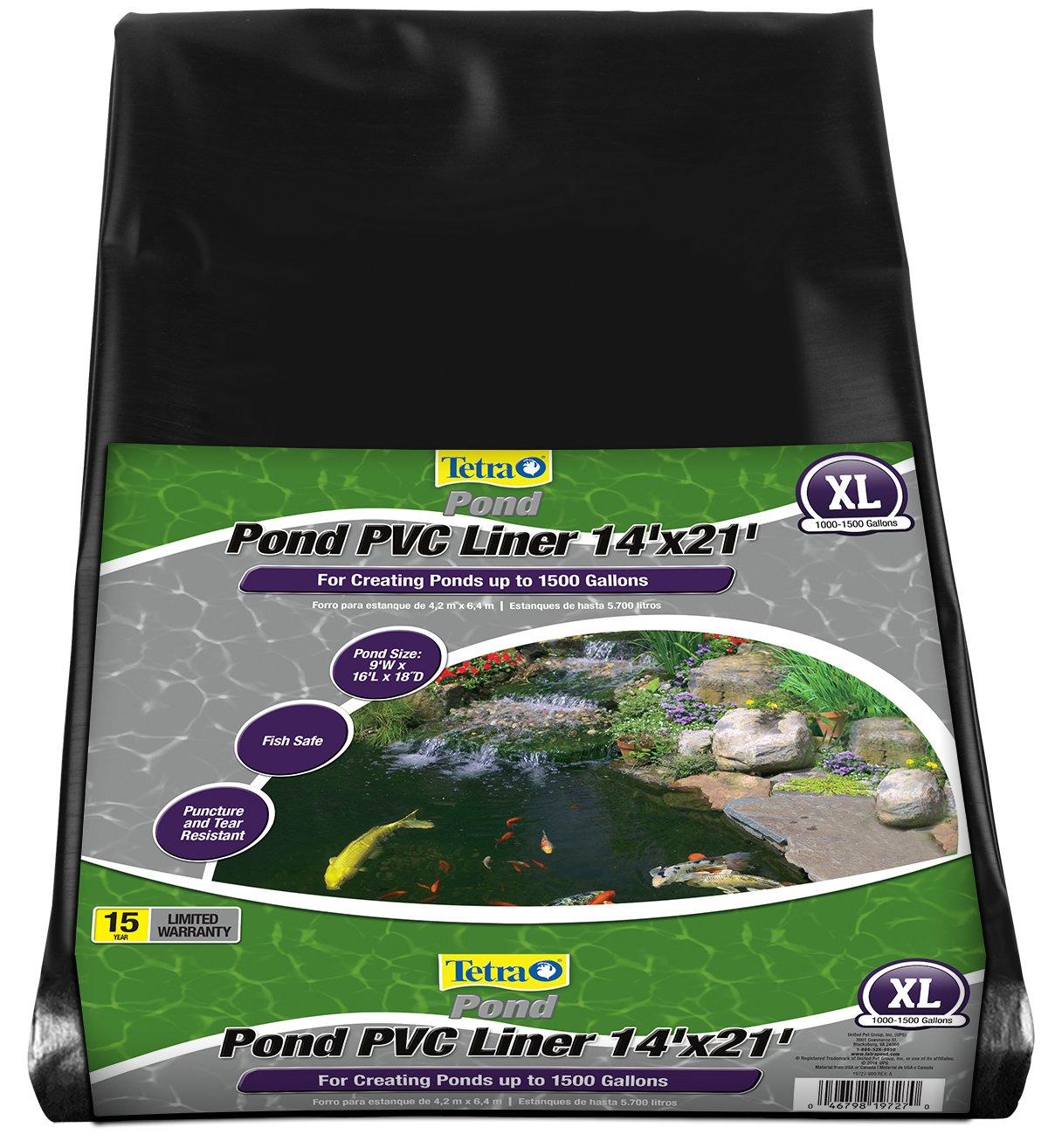 TetraPond Tear Resistant Pond PVC Liner, 14' x 21' by Tetra Pond