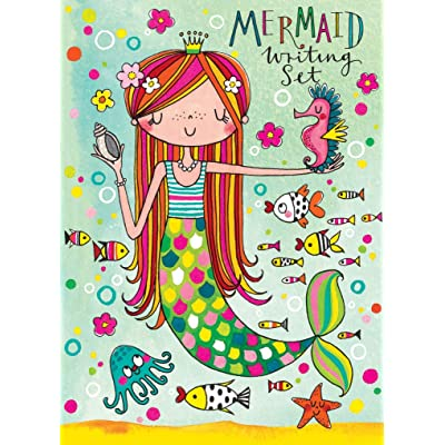 Jewelkeeper Rachel Ellen Princess Mermaid Design Writing Kit, Girls Stationery Paper Letter Set, Stickers, Envelope Seals: Toys & Games