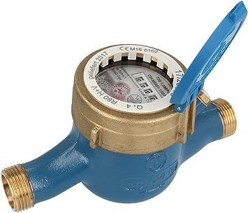 Contador de agua Reloj de agua QN 2,5 longitud 190 mm DN 20 2,54 ...
