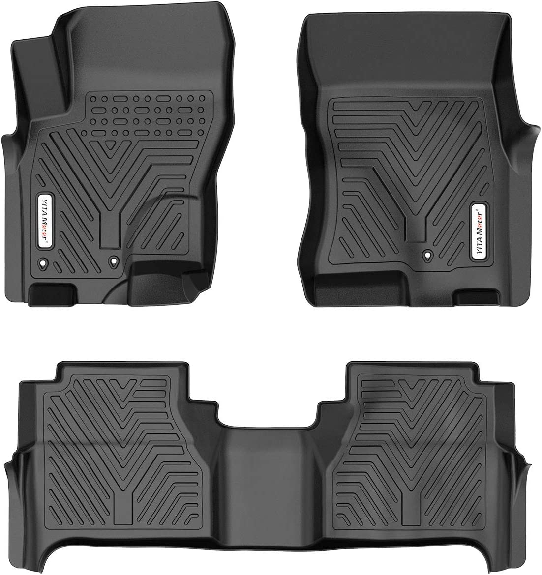 1st /& 2nd Row All-Weather Protection YITAMOTOR Floor Mats Compatible with 2008-2019 Nissan Frontier Crew Cab Custom Fit Floor Liners