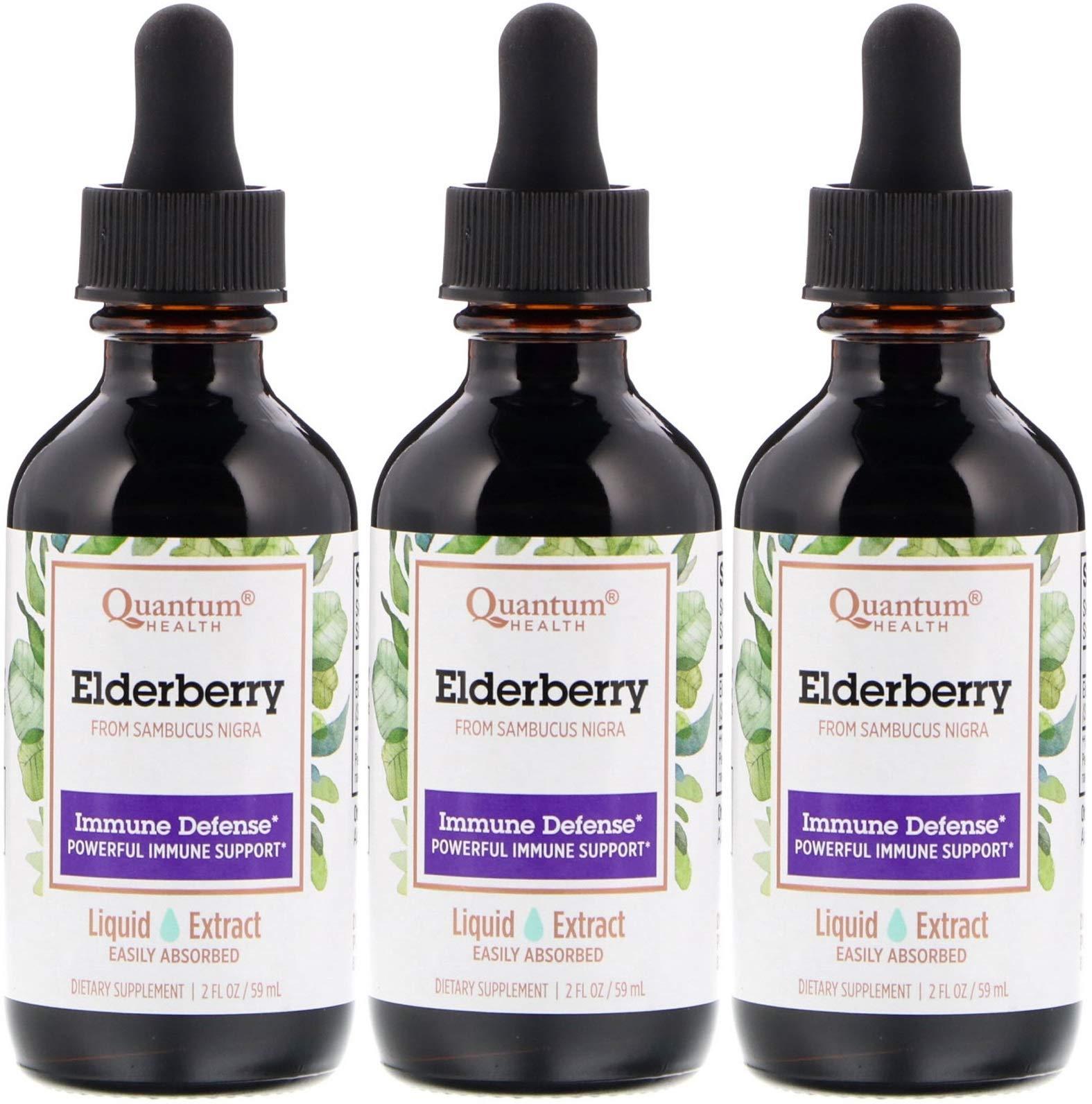 Quantum Elderberry Liquid Extract, 2 Ounce - 3 per case.