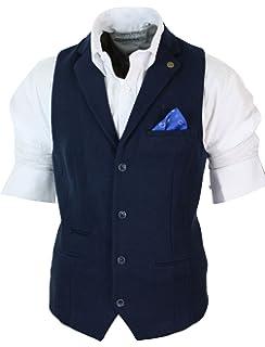 Marc Darcy Gilet Veston Homme Coupe cintrée Tissu Feutre Tweed Vintage  rétro Classique 7eb1a18f8f8f