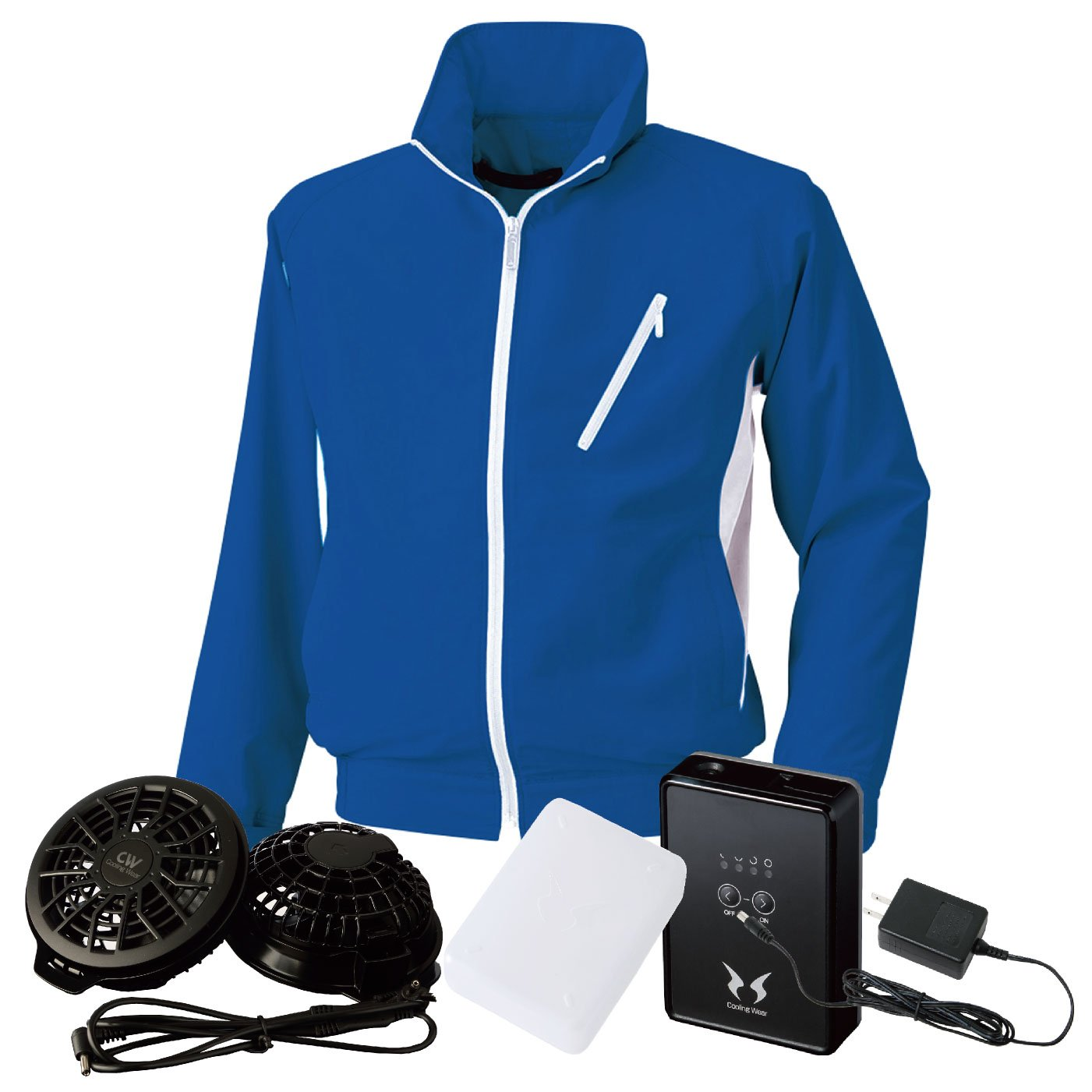 bigborn(ビッグボーン) 空調風神服 空調服 bb-bk6057-l 【空調服+ファン+バッテリー】 B07CSJ9RZ3 M|ロイヤルブルー×W ロイヤルブルー×W M
