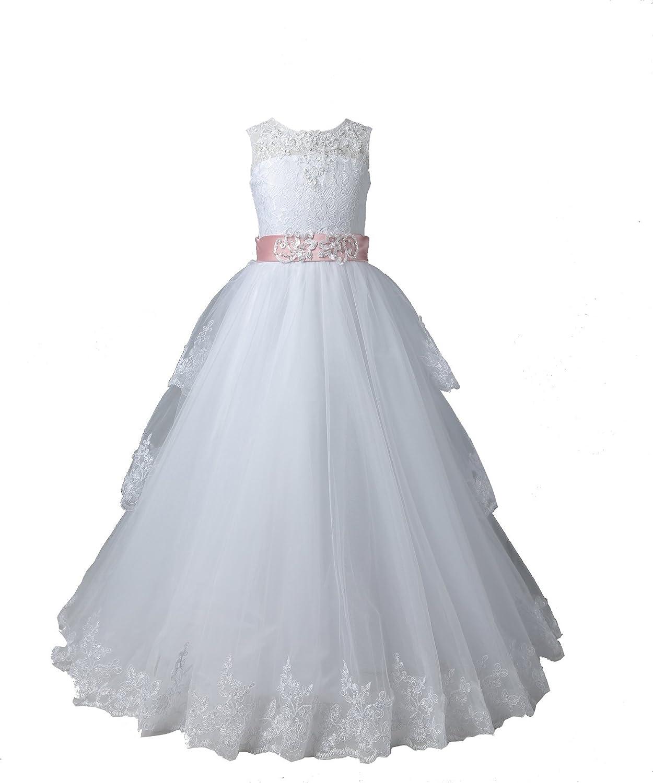 NUOJIA NUOJIA Blumenmädchen kleider Hochzeitskleider für Kinder ...