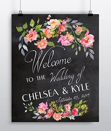 Amazon personalized wedding welcome sign custom wedding decor personalized wedding welcome sign custom wedding decor wedding reception decor couples gift junglespirit Choice Image