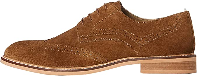 TALLA 42 EU. Marca Amazon - find. Zapatos de Cordones Brogue Hombre