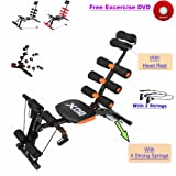 Abs Rocket Chair Abdominal Fitness Multi 6 Gym Trainer Exerciser Crunches Machine Bench Home Gym Exercise Workout Training