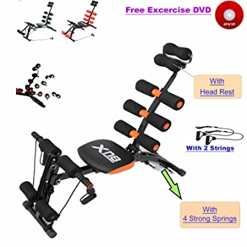Abs Rocket Chair Abdominal Fitness Multi 6 Gym Trainer Exerciser Crunches Machine Bench Home Exercise
