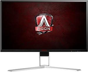 "AOC Agon AG241QX 24"" Gaming Monitor, QHD 2560x1440, Adaptive-Sync, 144Hz, 1ms, DisplayPort/HDMI/DVI-D/VGA, QuickSwitch keypad, VESA (Renewed)"