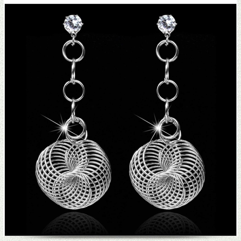 Epinki Jewerly Women Earrings Hollow Earrings with White Cubic Zirconia