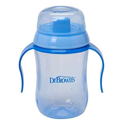 Dr Brown's 270ml Soft Spout Training Cup (Blue) Sippy Cups at amazon