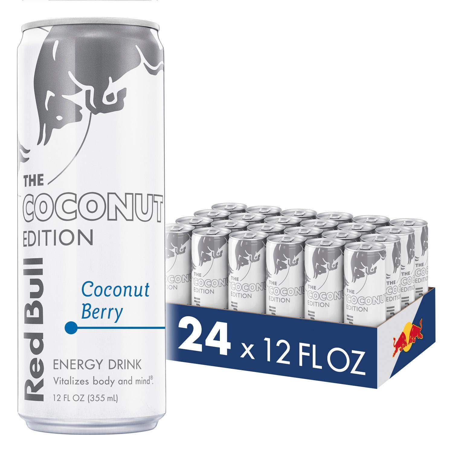 Red Bull Energy Drink, Coconut Berry, 24 Pack of 12 Fl Oz, Coconut Edition