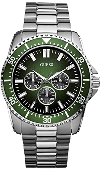 Guess W10245G3 - Reloj analógico de Cuarzo para Hombre con Correa de Acero Inoxidable, Color Plateado: Amazon.es: Relojes