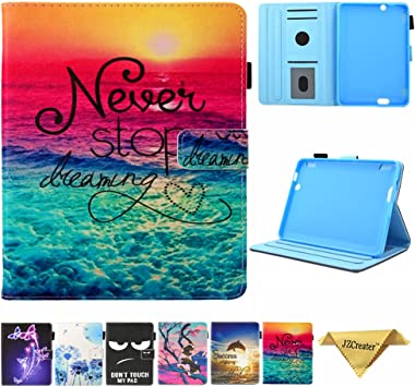 Amazon Com Folio Case For Fire Hdx 7 2013 Old Model Jzcreater Slim Fit Leather Standing Protective Cover With Auto Sleep Wake For Amazon Kindle Fire Hdx 7 0 Inch 3rd Generation 2013 Tablet Dreams Electronics
