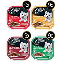 Cesar Food for Small Dogs Variety Product of U.S.A 36 X 100 Grams Net Wt 3600 Grams