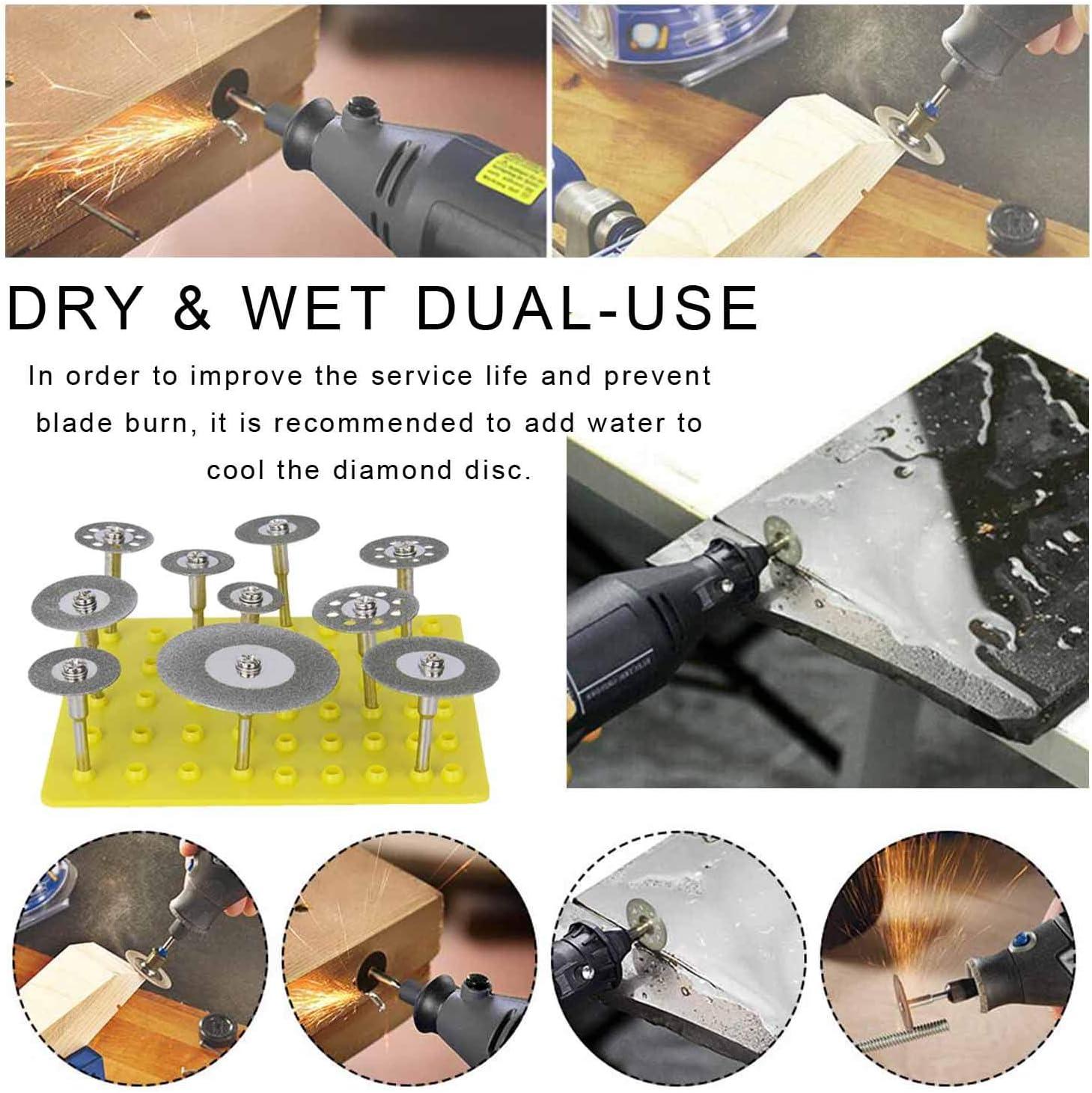 10 Pcs 1//8 Inch Circular Cutting Discs Cut-Off Wheel Blades Set for Rotary Tool Diamond Cutting Wheel