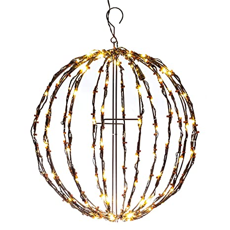 Elf Logic   16u0026quot; Outdoor LED Light Ball   Large Hanging Tree Globe Light