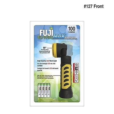 Fuji Enviromax 100lumens lampe de poche. Pivote à 90degrés en polymère en ABS. lampe: 1W + 3wcob.