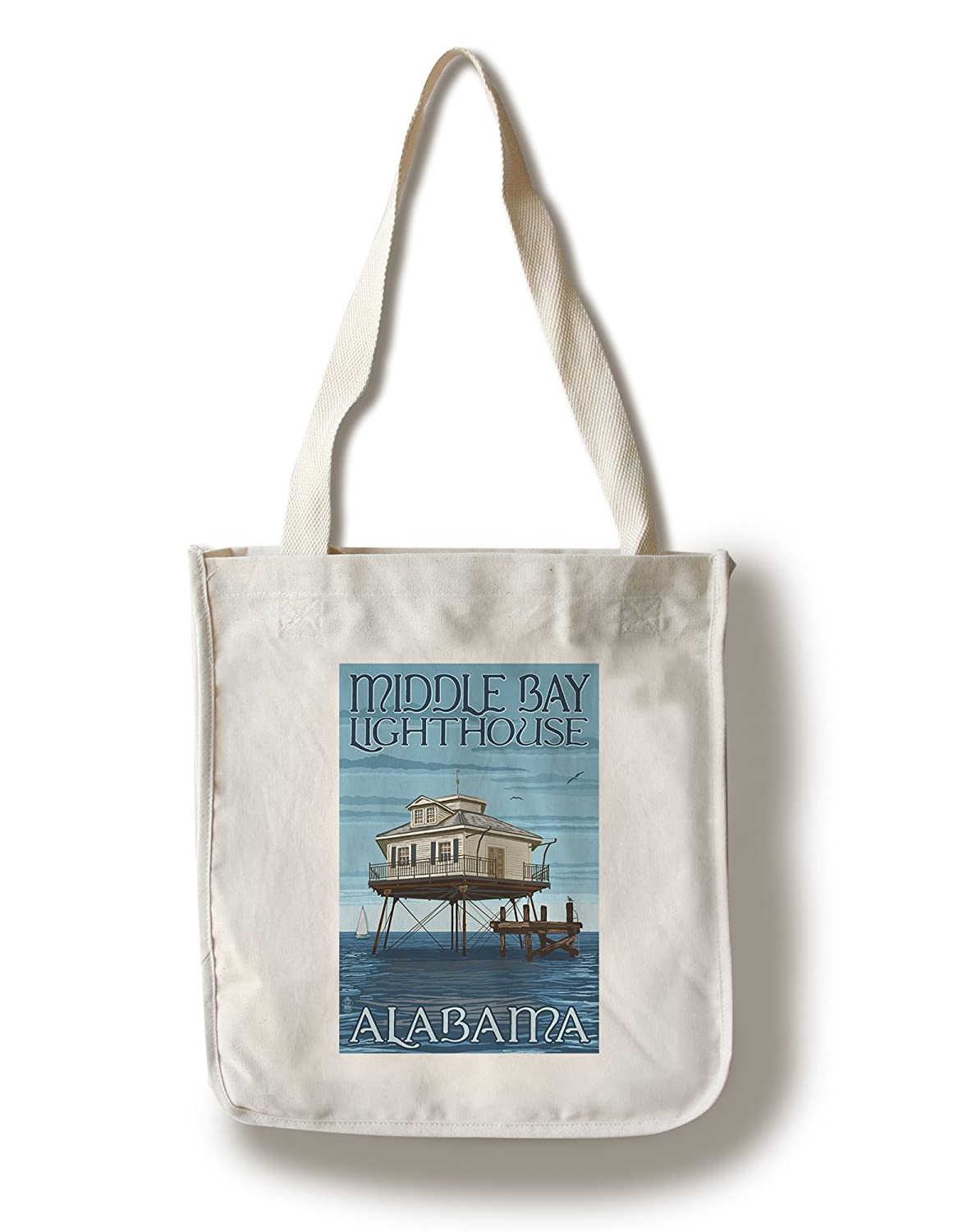 全国宅配無料 中央ベイ灯台 – 14 Alabama 11 x – 14 Matted Art Print Print LANT-36784-11x14M B0184189QS Canvas Tote Bag Canvas Tote Bag, かべがみファクトリー:06457b7d --- mcrisartesanato.com.br