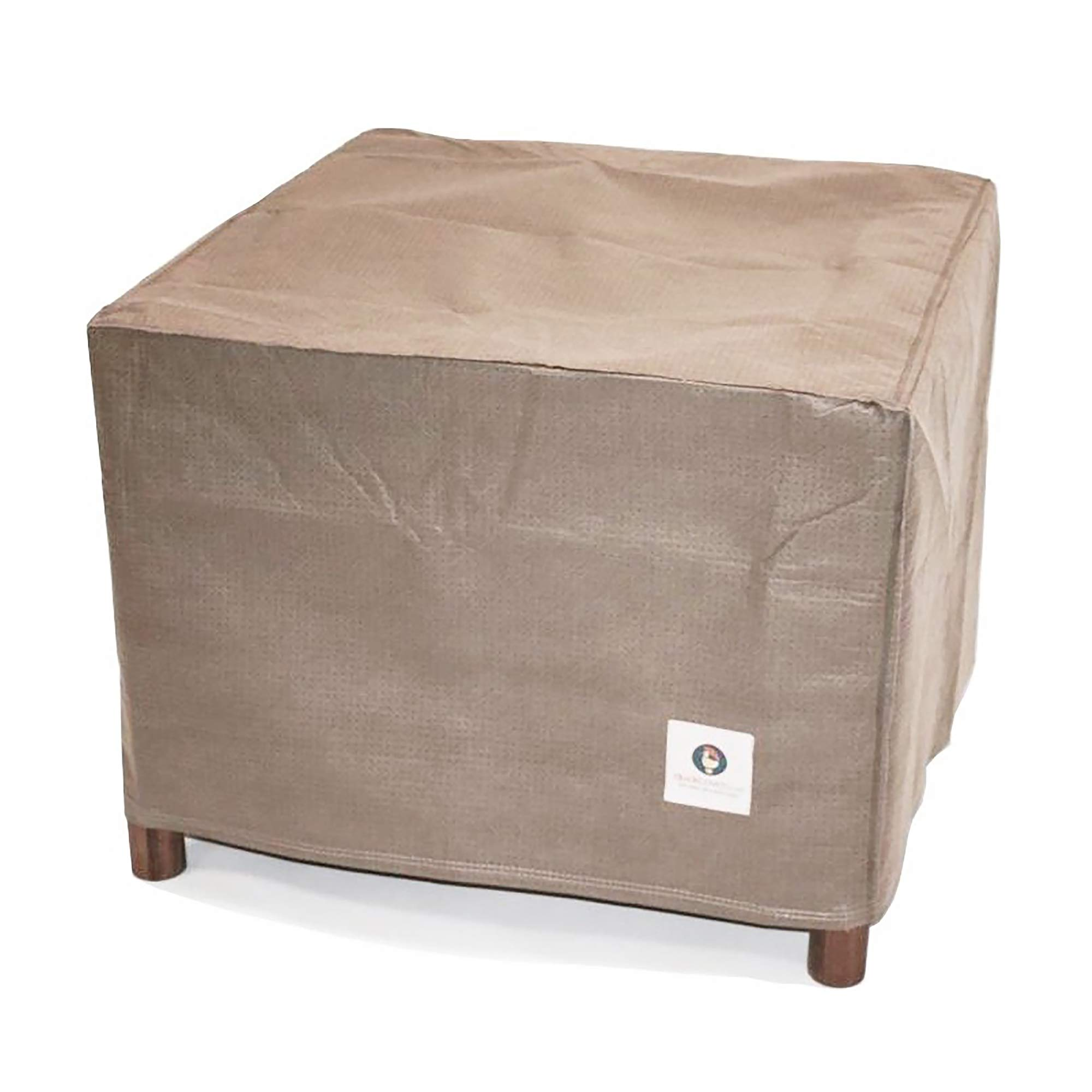Duck Covers Elite Square Patio Ottoman/Side Table Cover, Fits Outdoor Square Ottoman/Side Tables 32 in Long