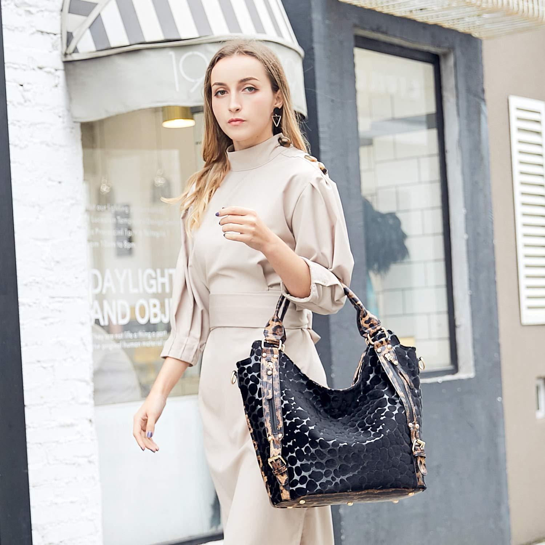 Ephraim Bolsos de Mujer Bolso de Hombro Bolso Grande Hobo Bolso Tote Bolso de Hombro 4pcs: Amazon.es: Equipaje