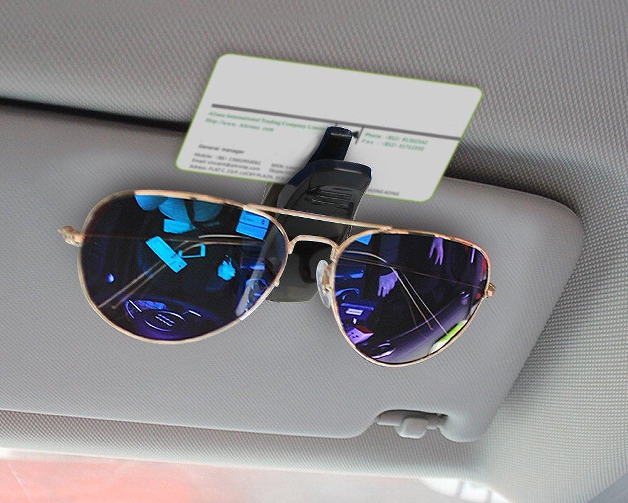 Ace Select Car Glasses Holder 2 Pcs Sun Visor Glasses Clip Sunglasses Clip for Car Black 4350408342