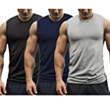 COOFANDY Mens Workout Tank Tops 3 Pack Gym
