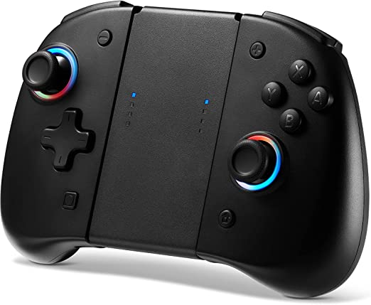 BINBOK Joypad Controller for Switch, Wireless Switch Joycon(L/R) Remotes with 8 LED Colors, Replacement Compatible for Switch Joy Pad with Motion Control/Back Map Button Update Version