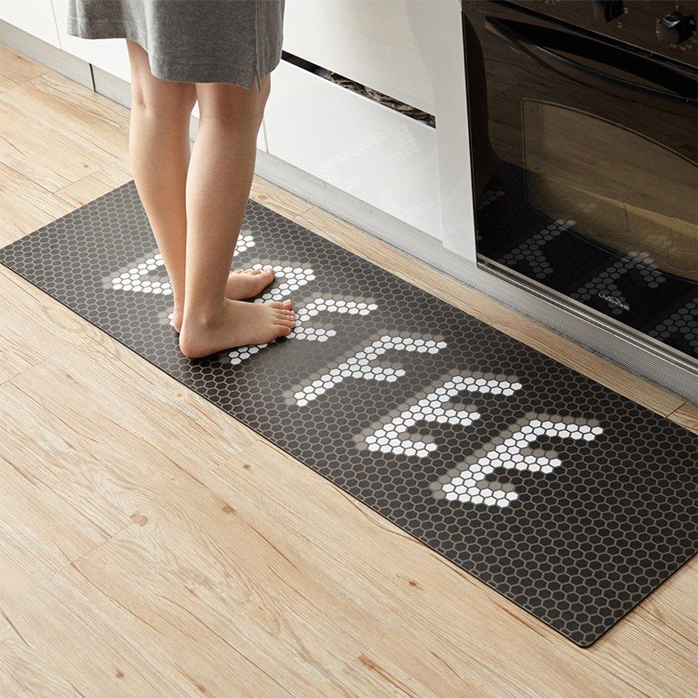 WENZHE 敷物 キッチンカーペットマット キッチンカーペットマット敷物三次元 滑り止め PVC素材 褐色、 厚い4mm、 5サイズ ( サイズ さいず : 45*80+45*120cm ) 45*80+45*120cm  B078Q6L43R