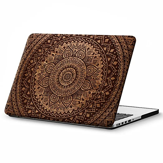 9 opinioni per Cover MacBook Pro 13 Retina Costodia , Haocoo Mandala e Legno Pattern Ultra