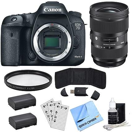 Amazon com : Canon EOS 7D Mark II 20 2MP HD 1080p Digital