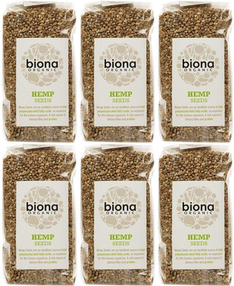 (6 PACK) - Biona - Org Hemp Seed | 250g | 6 PACK BUNDLE