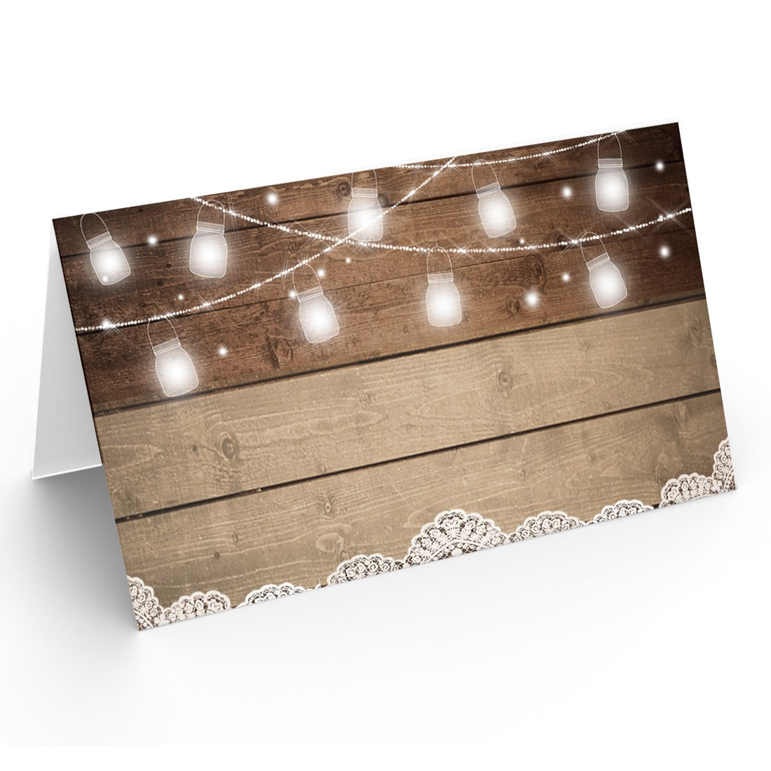 25 Table Place Cards | Rustic Wood | Perfect for Weddings, Holidays, Dinner Parties, Birthdays, Buffets and Catering