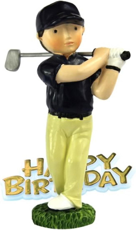 Swell Golfer Resin Happy Birthday Cake Decoration Man Amazon Co Uk Funny Birthday Cards Online Alyptdamsfinfo