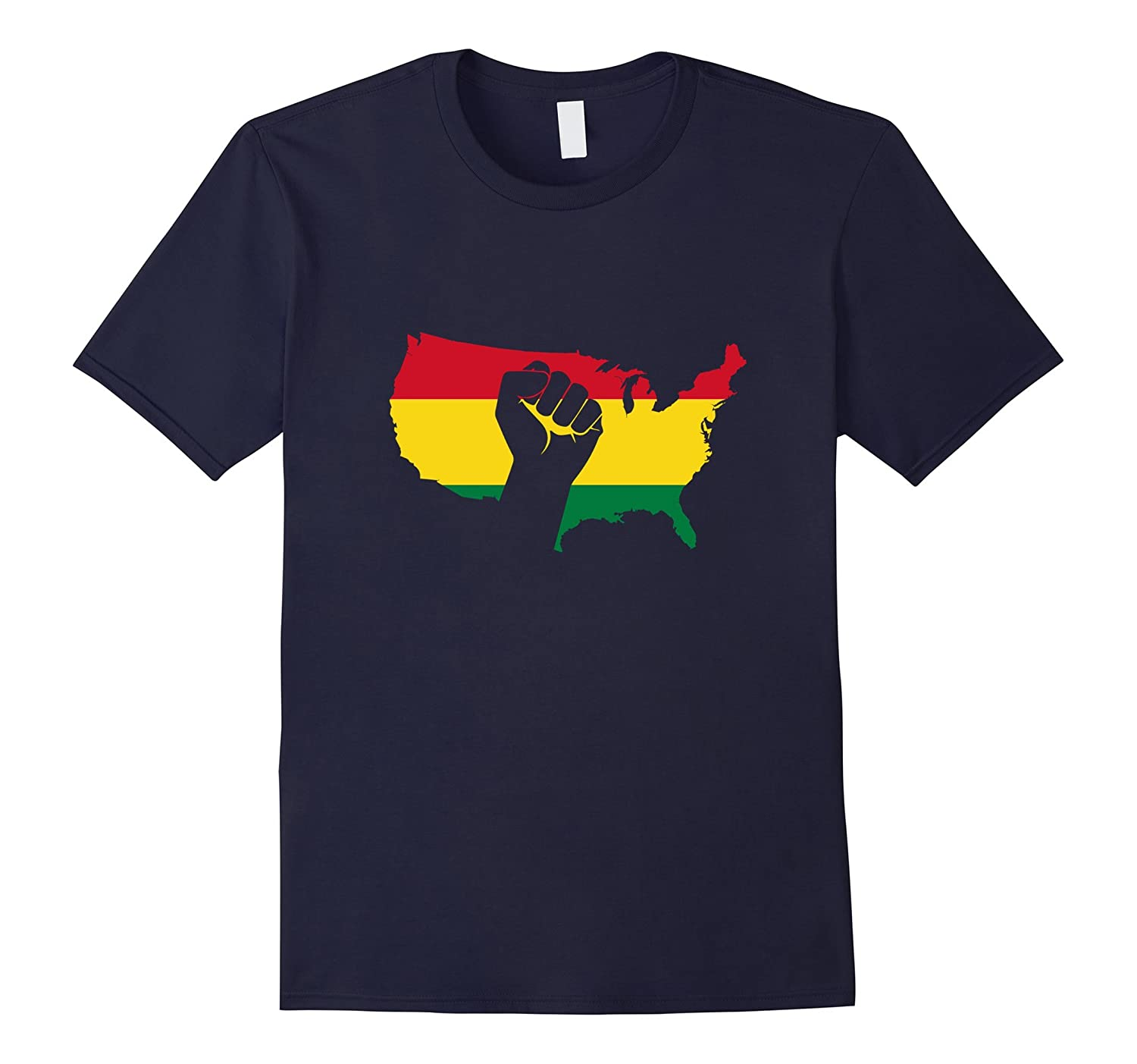 African American Black Power Fist Black Pride T-Shirt-CD