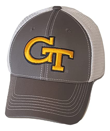 purchase cheap 89dff 9a82a Image Unavailable. Image not available for. Color  Georgia Tech Yellow  Jackets Cap Mesh Snapback Hat