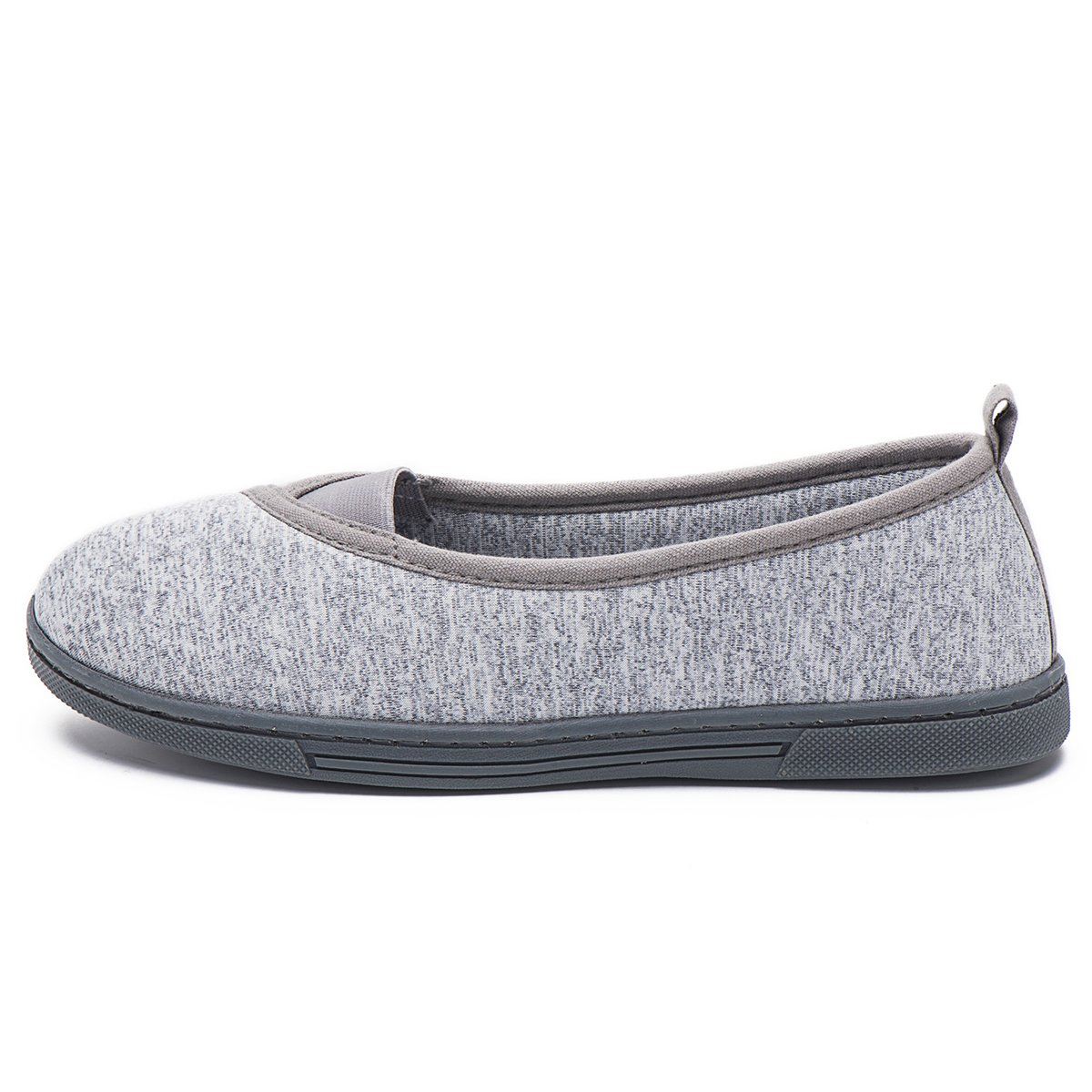 FootTech Women House Slippers Memory Foam Lightweight Anti-Skid Comfort Cotton Home Shoes Designed by (US7-8, Grey)