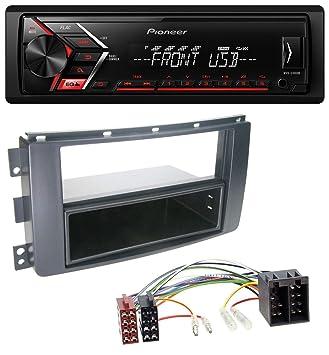 caraudio24 Pioneer MVH-S100UB USB AUX MP3 1DIN Autoradio f/ür Peugeot 207 307 Expert Partner